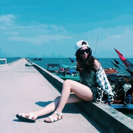 """""""Check-in"""" làng chài Hàm Ninh. Ảnh: fank448691291"""
