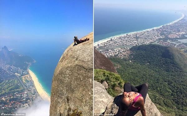 Vách đá này nằm ở độ cao hơn 800 m so với mặt đất. Đây cũng là một trong những ngọn núi ven biển cao nhất Brazil. Điều đó không khiến Wellerson Boldrini hay Lilian Carvalho lo sợ.