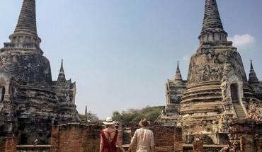 Nhờ vị trí nằm trên đường giao thương giữa Ấn Độ và Trung Hoa nên Ayuthaya rất phát triển trong những thế kỉ trước. Năm 1767 bị người Miến Điện xâm lược và tàn phá, sau khi giành lại được độc lập, quốc vương Thái Lan đã dời kinh đô về Bangkok. Ảnh: bredmauro/ instagram