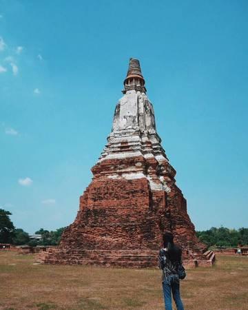 Những di sản của Ayutthaya nằm rải rác trên một diện tích rộng, nên không được quản lý thành khu vực mà được bảo quản theo từng di tích. Ảnh: pilipda/instagram