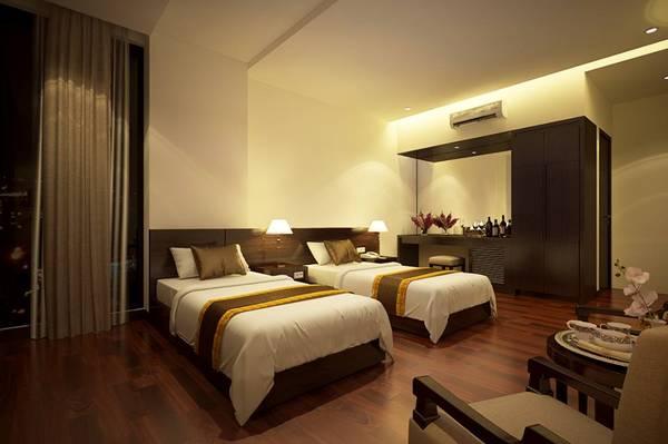 Phòng sang trọng trong khách sạn Sông Đà