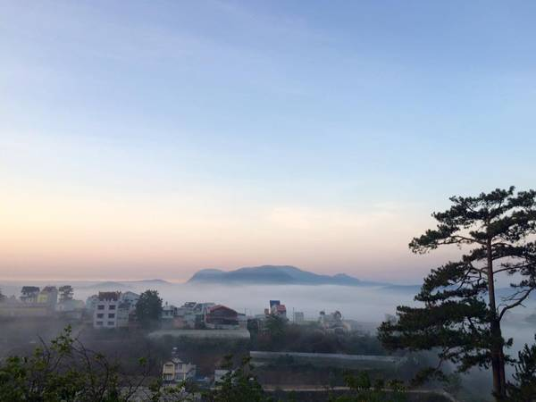 Mỗi buổi sáng bạn có thể dễ dàng thấy được hình ảnh phố núi bồng bềnh trong mây ngay từ HomeFarm
