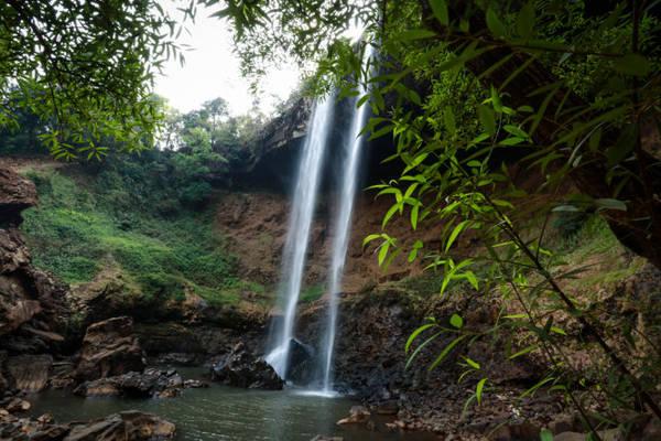 Một góc chân thác Đắk G'lun - Ảnh: Tiến Thành