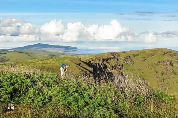 Hòn đảo có hình dạng tam giác với diện tích 163,6 km² với 3 đỉnh là các ngọn núi lửa Poike, Rano Kau và Terevaka.