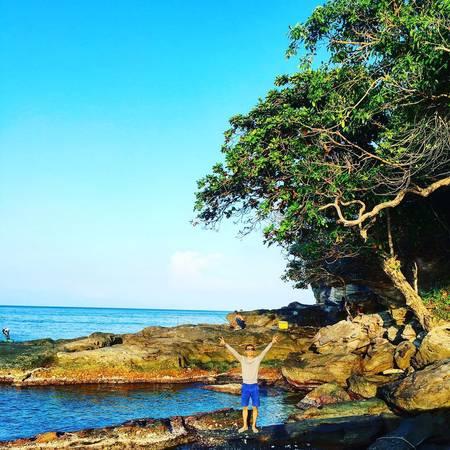 Ở làng chài Gành Dầu có rất nhiều khung cảnh đẹp và hoang sơ. Ảnh: jaychou9x