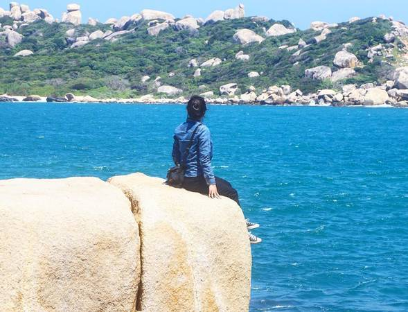 Hiện tại Mũi Đôi là điểm đến số một của giới trẻ thích khám phá khi du lịch Nha Trang. Ảnh: yenchee07/instagram