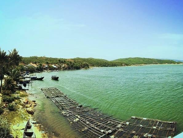 Trên đường đi, bạn sẽ có thể ghé qua xã An Hòa - nơi có những bến thuyền cửa sông với những khung cảnh rất hài hòa.