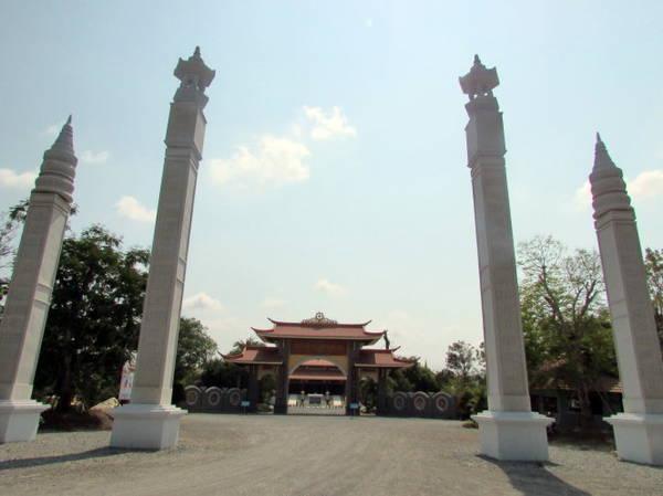 Thiền viện Trúc Lâm Chánh Giác tại Thạnh Tân - Ảnh: N.T.Đăng