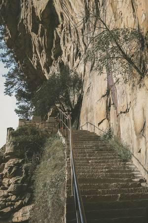 Một con đường dẫn lên núi.Ảnh:Nguyễn Trường Sơn