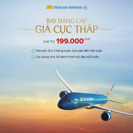 Du Lịch cùng Vietnam Airlines 'Bay đẳng cấp – Giá cực thấp'