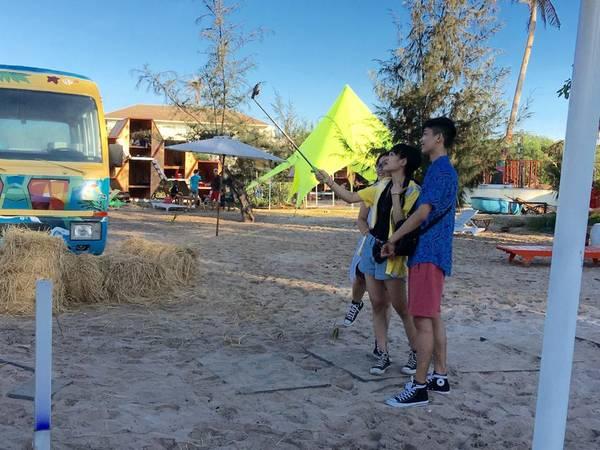 Với thiết kế phòng tổ ong độc đáo cộng thêm view ngắm ra bờ biển siêu đẹp hứa hẹn sẽ mang lại cho bạn nhiều trải nghiệm thú vị khi cắm trại tại đây.Ảnh: FBLU Glamping - Beach Bar & Camp