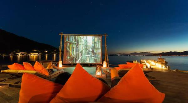 Rạp chiếu phim ngoài trời.