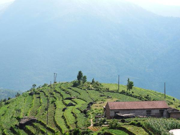 Bản Sông Moóc ở Bình Liêu tuyệt đẹp nhìn từ trên cao.Ảnh: FBBinh Lieu Travel Guide