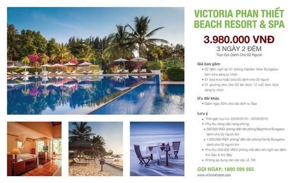 Gói ưu đãi Summer Escapes tại Victoria Phan Thiết với mức giá cực hấp dẫn.