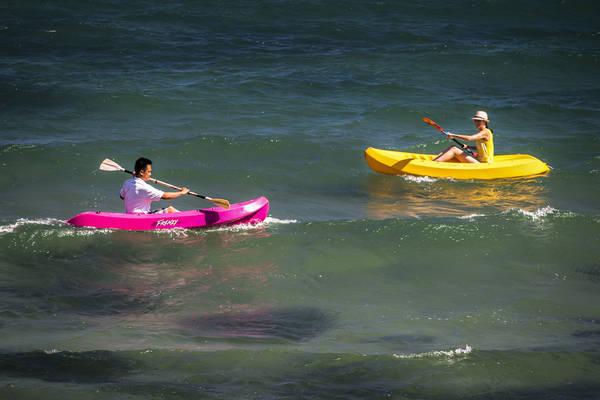 Chèo thuyền kayak.