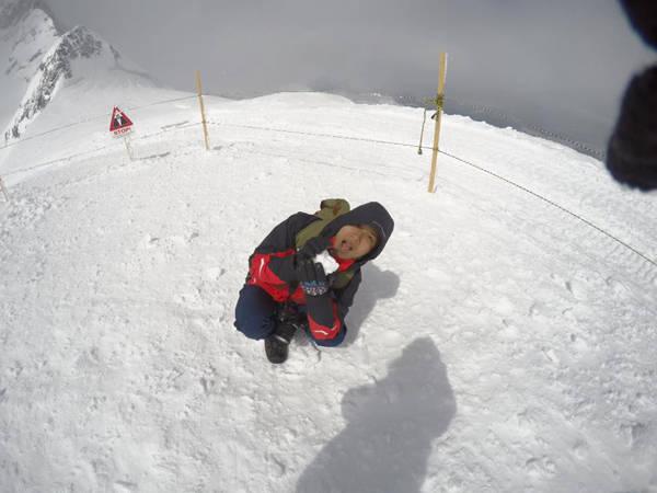 Đỉnh Jungfraujoch (Thụy Sĩ), nơi được coi là Nóc nhà châu Âu.