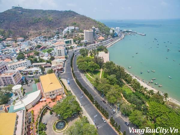 Thành phố biển Vũng Tàu xinh đẹp nhìn từ trên cao. Ảnh:vungtaucity.vn