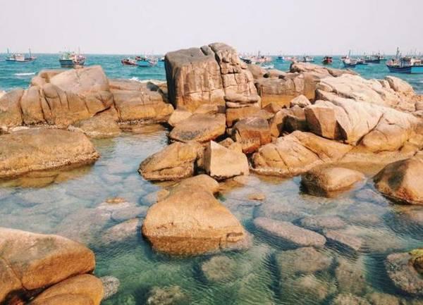 Cùng thử thách câu cá ngay mép bờ đá cũng là một trải nghiệm mà bạn không thể bỏ qua khi đến với cù lao Mái Nhà.
