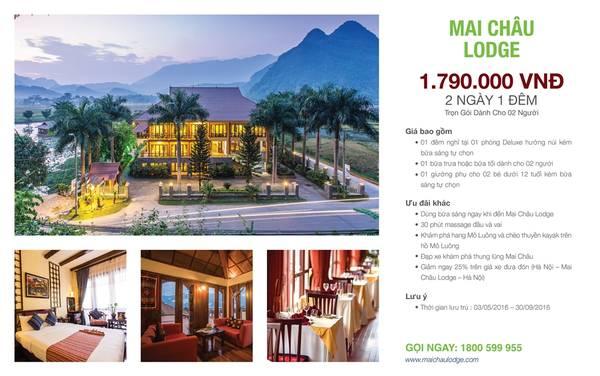 Gói ưu đãi Summer Escapes củaMai Châu Lodge với mức giá cực ưu đãi.