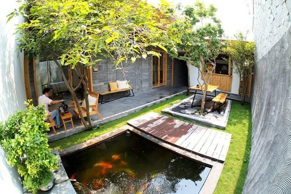 Hotel Homestay nằm ở địa chỉK30/H01/03 Hà Bổng với vật liệu xây dựng chủ yếu bằng gỗ nên cực sang trọng và thoáng mát.