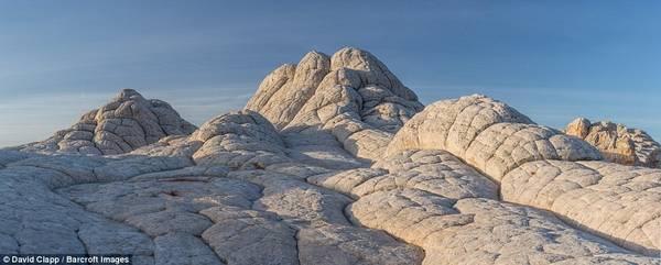 """Ảnh chụp khu vực được gọi là """"đá não"""" ở White Pocket, bang Arizona."""