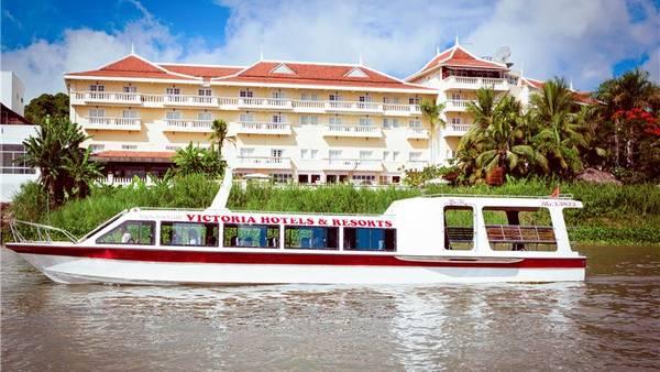 Thuyền cao tốc Victoria là phương tiện lý tưởng cùng du khách khám phá sự kỳ bí tại lưu vực sông Mekong