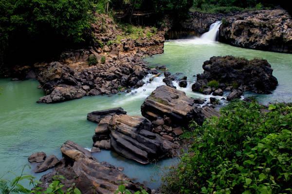 Những hồ nhỏ được tạo thành từ thác Gia Long. Ảnh: Panoramio