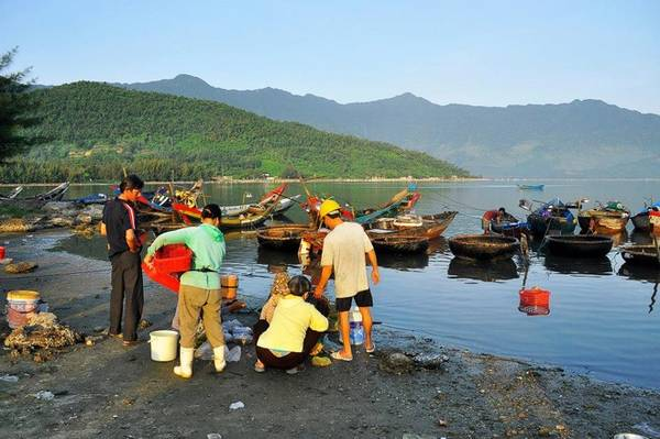 Người dân nơi đây sống chủ yếu bằng nghề đánh, bắt thủy hải sản trên đầm. Trong số đó có thể kể đến hàu - một loại đặc sản quý ở đầm Lập An.