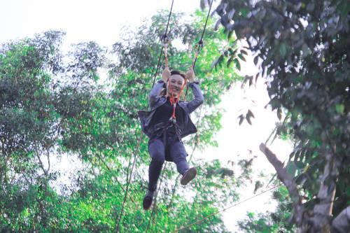 Đà Nẵng là địa phương tiếp theo Đà Lạt, Huế, Quảng Bình có đường trượt zipline. Ảnh: KDL HPT
