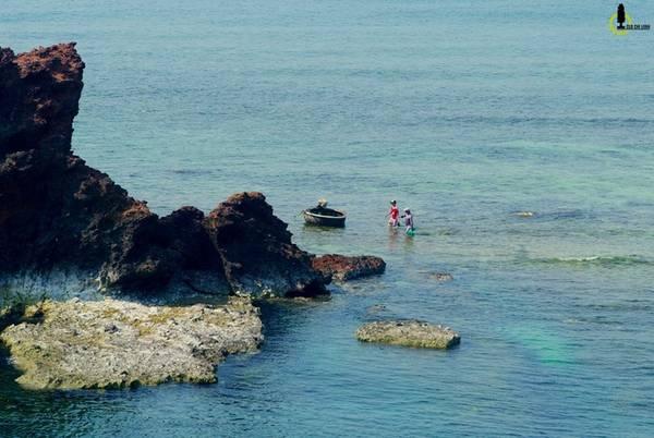 Vào những ngày đầu tháng theo dòng thủy triều rút xuống, một con đường xuyên biển sẽ lộ ra nối liền bờ với Hòn Sụn, thẳng tới Hòn Yến. Du khách sẽ có cơ hội được đi bộ giữa biển, ngắm nhìn hệ thống san hô đầy sắc màu nơi đây.