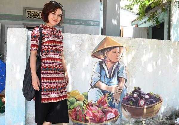Khoảng 100 ngôi nhà ở làng chài Tam Thanh đãđược các họa sĩ Hàn Quốc thiết kế những bức tranh trên tường với nhiều chủ đề về thiên nhiên, đất nước, con người Việt Nam...Ảnh duli.vn