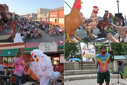 Lễ hội biểu diễn gà Wayne: Lễ hội này diễn ra vào tháng 7 ở thành phố Wayne thuộc bang Nebraska, dành cho những ai yêu gà. Trong lễ hội này, bạn có thể tham gia màn khiêu vũ gà lớn nhất thế giới, cuộc thi chân gà đẹp nhất hay cuộc thi đóng giả gà đạt nhất.