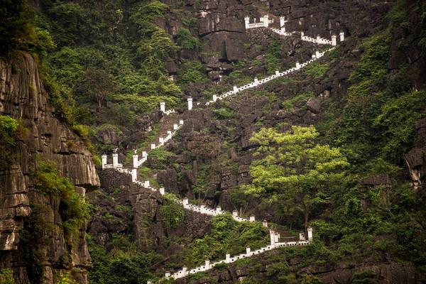 425 bậc thang lên hang Múa. Ảnh: georges courreges