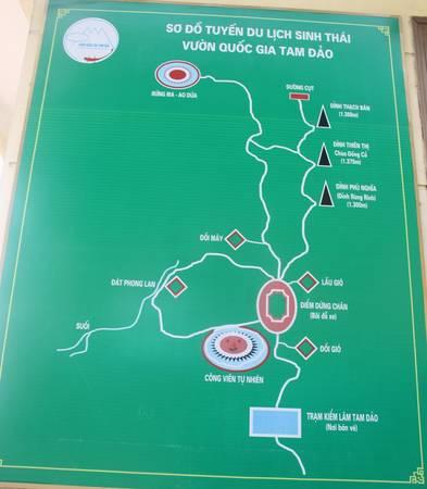 Từ đây bạn có thể chọn nhiều hành trình khám phá, như leo 3 đỉnh núi Tam Đảo, thăm Công viên tự nhiên, rừng Đát Phong Lan, Đồi Mây, rừng Ma - Ao Dứa…