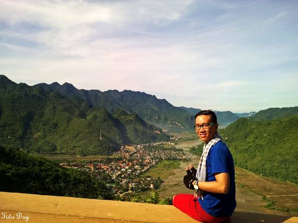 Thung lũng Mai Châu nhìn từ trên cao. Ảnh: Tiểu Duy