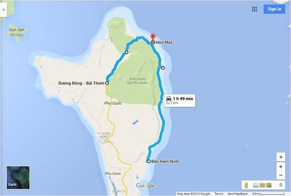 Đường xuyên rừng Phú Quốc
