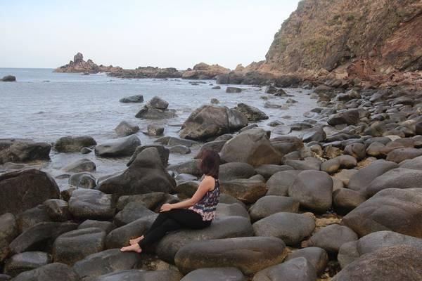 Vẻ đẹp hoang sơ của Eo Gió. Ảnh: San San