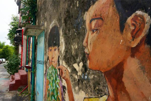 Những bức tường nghệ thuật ở Ipoh.
