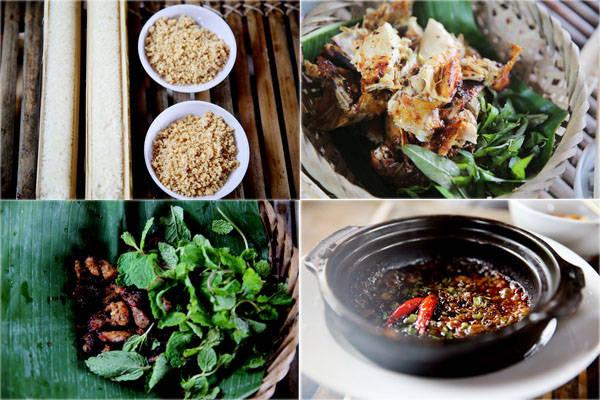 Ngôi làng Cù Lần chỉ có duy nhất một nhà hàng với những món ăn đặc trưng của núi rừng: cơm lam 50.000 đồng một ống, thịt nướng tầm 120.000-150.000 đồng, gà nướng 350.000 một con, rau kho quẹt 100.000 một đĩa.