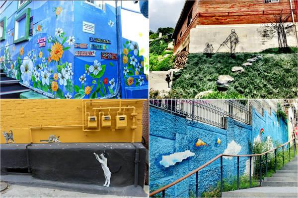 Ihwa cũng từng là ngôi làng xập xệ sắp sửa bị phá hủy ở Seoul. Nhưng đến năm 2006, hàng chục nghệ sĩ trong dự án Art In City - Naksan đã kết hợp với địa phương tạo nên những tác phẩm nghệ thuật đường phố. Nhờ kế hoạch này mà ngôi làng được làm mới và thu hút hàng nghìn du khách đến tham quan.Ảnh: Instagram.