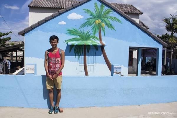 Những bức tranh lấy cảm hứng từ đời thật , gần gũi với cuộc sống của người dân làng chài.