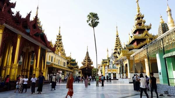 Chùa Shwedagon hay Chùa Vàng ở Yangon được coi là ngôi chùa linh thiêng nhất Myanmar. Tại đây lưu giữ 4 báu vật thiêng liêng đối với các tín đồ Phật giáo, gồm cây gậy của Phật Câu Lưu Tôn, cái lọc nước của Phật Câu Na Hàm, một mảnh áo của Phật Ca Diếp, và 8 sợi tóc của Phật Thích Ca. Stupa dát vàng của chùa cao 98 m. Chùa lại nằm trên đồi Singuttara, từ đây có thể quan sát được cả thành phố Yangon.