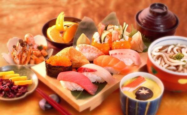 The stand-point of the strange Japanese cuisine
