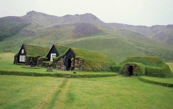 Những ngôi nhà này nằm ở làng Skogar, Iceland, được chính phủ sử dụng làm bảo tàng dân gian.