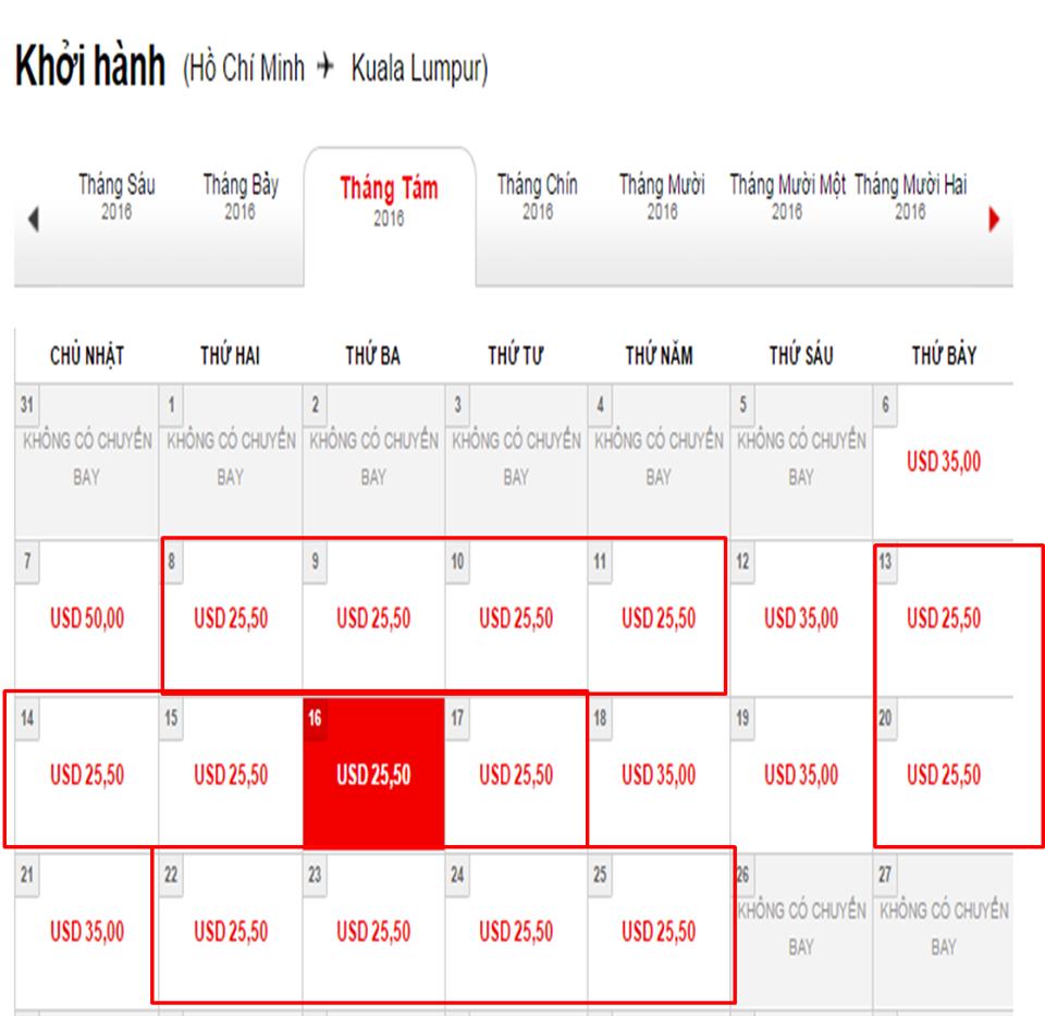 Nếu bạn đặt được vé 0 đồng thì giá vé khứ hồi đã bao gồm thuế phí của chặng Hồ Chí Minh - Kuala Lumpur  khoảng 25,5 USD/chiều.