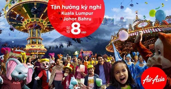 AirAsia là một trong những hãng hàng không thường xuyên có nhiều chương trình khuyến mãi đến Malaysia.