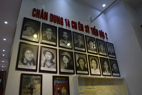 Chân dung 14 chiến sỹ của Tiểu đội 2, Đại đội 317, Truông Bồn. Ảnh: Vy An