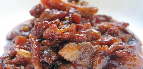 Món ăn truền thống dân tộc Nùng Dín : Thịt gừng