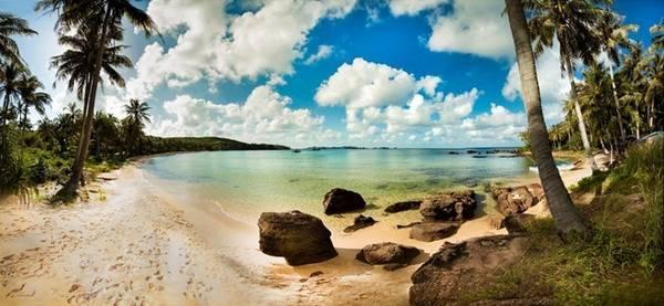 Bãi Khem được xem là bãi biển đẹp nhất đảo ngọc Phú Quốc. Ảnh: Sơn Trà.