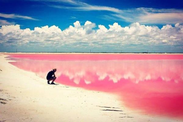 Las Coloradas là một làng chài nhỏ nằm trên bờ biến phía Bắc của bán đảo Yucatan của Mexico. Điểm đặc biệt là bãi biển nơi đây tràn ngập sắc hồng của nước biển hòa cùng bãi cát trắng trải dài. Bãi biển màu hồng này là một phần của khu dự trữ sinh quyển Rio Lagartos, Mexico.
